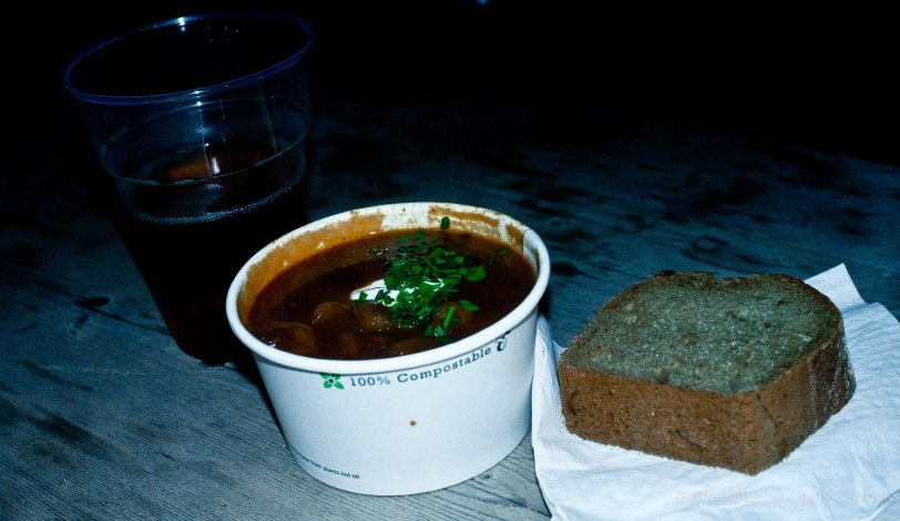 We first started up with some goulash as where we were sitting it was only -1 degrees