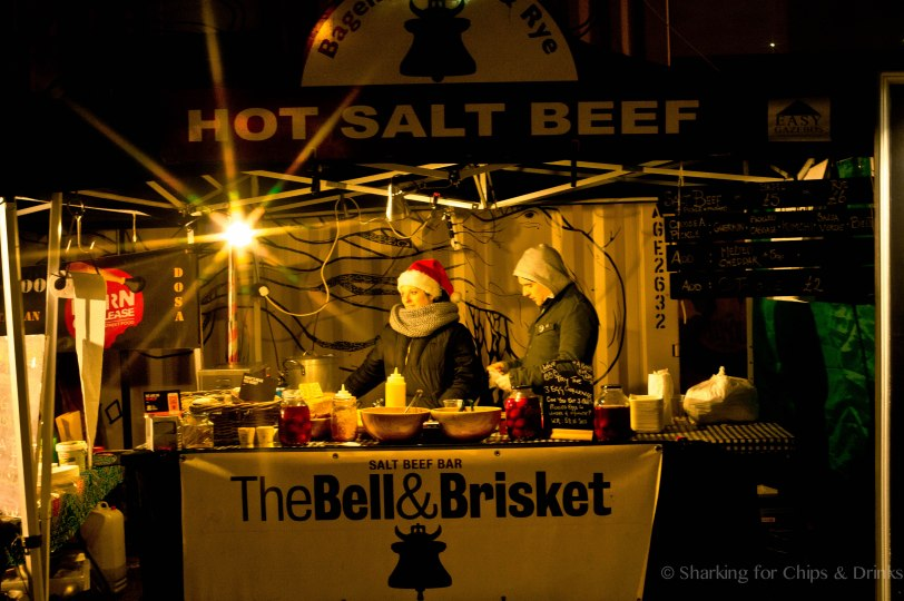 The Bell & Brisket - I previousluy lived just off Brick Lane and the food of choice there is hot salt beef - which people were scoffing in their droves.