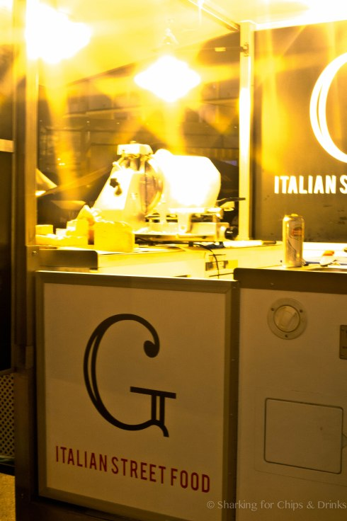 G Italian Street Food - keeping it simple. Just a slicer for the parma and salami (no god damn $20k stupid machines in sight). ahem D.O.C. and Skinner & Hackett