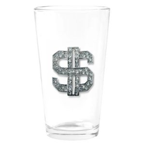 dollar sign glass